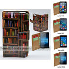 For Lumia 950XL 950 650 640 - Bookshelf Print Flip Wallet Phone Case Cover