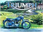 TRIUMPH THUNDERBIRD STEEL WALL MOTORBIKE PLAQUE METAL RETRO SIGN 15X20 TIN BLUE $7.08 USD on eBay