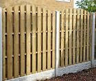 Hit & Miss Wooden Fence Panels - Wind Proof / Double Sided