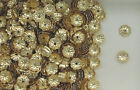 14K Gold Filled, 4mm Flower Design Bead Cap, Choice of Lot Size & Price