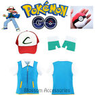K204 Pokemon GO Ash Ketchum Plush Ball Trainer Cap Shirt Gloves Costume Cosplay