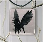 BLACK PEGASUS PENDANTS NECKLACE MEDIUM OR LARGE -jdn7Z