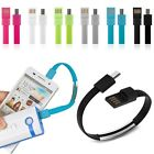 Micro USB 2.0 Data Sync Charger Wrist Bracelet Shape Cable For Cell Phone NEW