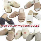 High-quality leather women slippers mules
