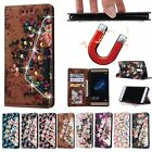 Bling Flowers Flip Leather Wallet Strap Card Stand Cover Case For Huawei Ascend