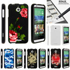 For HTC Desire 510 Case Hard Snap On 2 Piece Slim Shell Red Roses