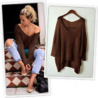 Women Fashion Warm O-Neck Pullover Long Sleeve Casual Loose Sweater Knitted Tops
