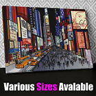 AB636 New York Times Square Sketch Canvas Wall Art Abstract Picture Large Print
