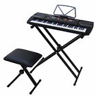 Clavier MK2085 USB LCD 61 Touches E-Piano Keyboard Enseignement + Support Banc