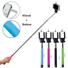 New Monopod Selfie Stick Telescopic Wired Remote Mobile Phone holder For Phones