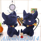 Внешний вид - Anime SERVAMP Shirota Mahiru Kuro Black Cat Plush SleepyAsh Plushie Doll Toy New