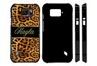 PERSONALIZED CASE FOR SAMSUNG S4 S5 S6 S7 ACTIVE LEOPARD GOLD