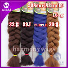 "41"" X-Pression Kanekalon Jumbo Ultra Braids Twist Synthetic Hair Extension 165g"