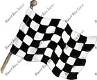 Checkered Flag Sticker Decal Home Office Dorm Wall Exclusive Art Tablet Cell HD