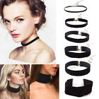 90's Black Velvet Choker Necklace Gothic Handmade Retro Burlesque Jewelry New