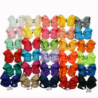 Grosgrain Ribbon Butterfly Knot Hair Clip Bow Hair Clip For Baby And Girl Hot