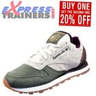 Reebok Classic Leather International Mens Retro Running Trainers Cream Khaki