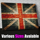AB483 Brick Union Jack Abstract Canvas Wall Art Ready to Hang Picture Print Y