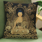 1PC Vintage Buddha Printed Holy Pillow Cover Square Zipper Throw Cushion Case