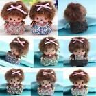 Monchhichi Girl Key Chain Fashion Doll Purse Rhinestone Car Charm Ring Pendant