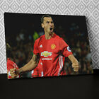 S575 Zlatan Ibrahimovic Man Utd Sport Canvas Wall Art Framed Picture Print