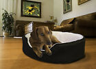 Furhaven NAP Pet Bed Orthopedic Oval Lounger Dog or Cat Bed Cuddler
