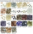 Czech Glass Honeycomb 6.5mm 2-Hole Beads (30 bead strand) 1