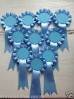 Set of 10 Blank Centre Rosettes.  Various Colours.  50mm Centres.