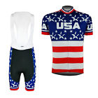 Latest Men Road Cycling Uniform Race Fit Jersey Bib Shorts Kit Riding Outfit USA