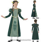 CK850 Girls Princess Fiona Green Shrek Fancy Dress Tudor Medieval Costume Outfit