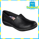 Skechers Womens Relaxed Fit Washington Seattle Slip On Black Work Shoes leather