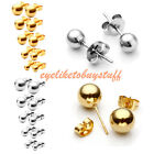 Unisex Pair Stainless Steel Ball Ear Helix Tragus Cartilage Stud Earring 3-8mm