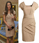 Womens Elegant Slim Fit Zipper Office Work Business Casual Bodycon Pencil Dress