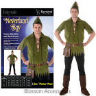 CL983 Mens Neverland Boy Robin Hood Peter Pan Costume Fancy Dress Party Outfit