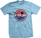 Netherlands Flag Ball Born From Holland Country Outline NLD NL Am Men's T-Shirt