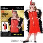 CK852 Girls Red Flapper 1920s Charleston Chicago Gatsby Fancy Dress Up Costume
