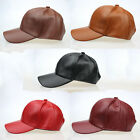 Men's Women Leather Baseball Hat Sports Outdoor Adjustable Golf Cap Trucker