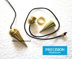 Newton Gold Chamber Metal Precision Pendulum with Cord Hypnosis Trance Orgone