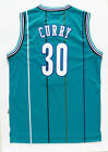 Dell Curry Charlotte Hornets Retro Jersey Basketball Top Blue Stiched Shirt New