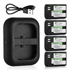 LP-E6 Battery & USB Dual Port Charger For Canon EOS 7D 70D 6