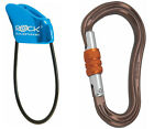 Rock Empire Gym belay device & Magnum screw or twist lock climbing carabiner