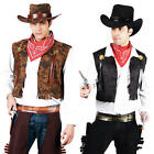 Western Cowboy Costume Mens Wild West Sheriff Adult Rodeo Fancy Dress Outfit New