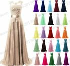 Chiffon Lace Evening Formal Party Ball Gown Prom Bridesmaid Long Dress Size 6~22