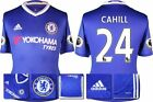 *16 / 17 - ADIDAS ; CHELSEA HOME SHIRT SS + PATCHES / CAHILL 24 = SIZE*