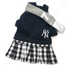 Fashion New York Yankees Small Dog Sport Clothes Dress with Scarf