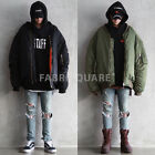 Huge Oversized Shirring Sleeve Reworked Bomber Blk Red Green S M L XL jacket675