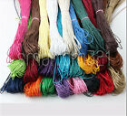 Waxed Cotton Cord 1.5mm String Thread  Jewellery Bracelet Necklace Making Craft