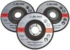 """Am-Tech 3pc Metal Grinding Disc 115mm 4 1/2"""" Angle Grinder Discs Cutting"""