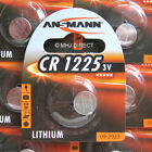 Genuine Ansmann Branded CR1225 3v Lithium Coin Cell Batteries Use By Date 2023
