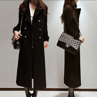 Women's Slim Thicken Double-breasted Lamb Faux Fur Lapel Jacket Overcoat